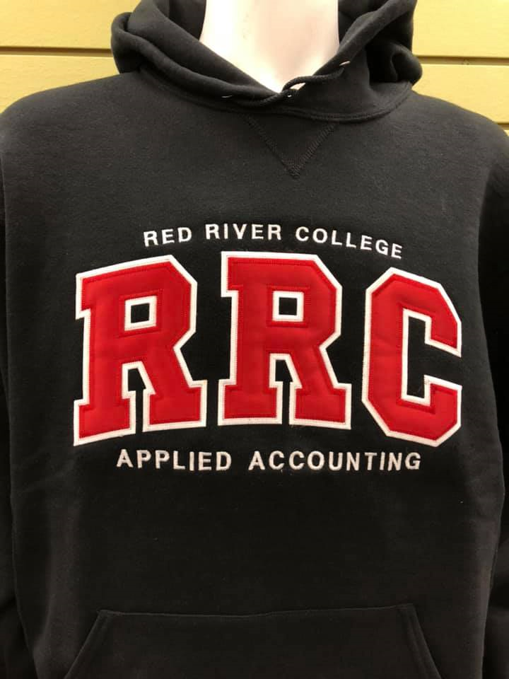 HOODIE UX APPLIED ACCOUNTING RED LETTERS w/ WHITE STITCHING (SKU 1026014256)