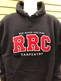 HOODIE UX CARPENTRY RED RRC w/ WHITE STITCHING