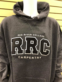 HOODIE UX CARPENTRY BLACK RRC w/ WHITE STITCHING