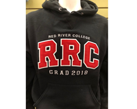 Hoodie Ux Grad 2018  Red Letters White Stitching