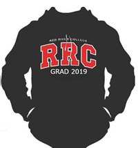 Hoodie Ux Grad 2019 Red Letters White Stitching