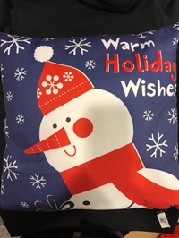 Pillow Toss Warm Holiday Wishes