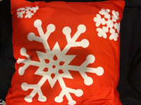 Pillow Toss Snowflake