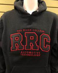 HOODIE UX AUTOMOTIVE TECHNOLOGY BLACK RRC w/ RED STITCHING