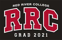 HOODIE UX GRAD 2021 RED RRC w/ WHITE STITCHING