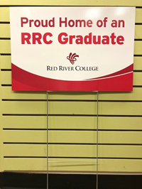 LAWN SIGN GRADUATE RRC - DOUBLE SIDED