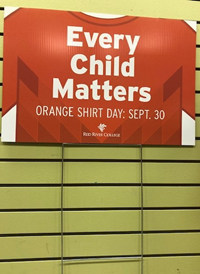 LAWN SIGN ORANGE SHIRT DAY RRC - DOUBLE SIDED