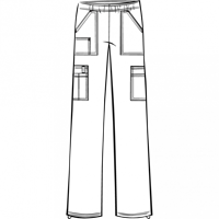 4005 - SCRUBS WM PANT PULL ON CARGO BLACK