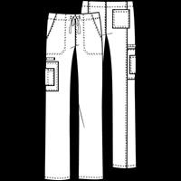 4043 - SCRUBS UX PANT DRAWSTRING CARGO BLACK