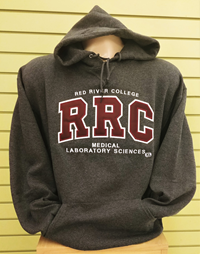 HOODIE UX MEDICAL LABORATORY SCIENCES MAROON RRC w/  WHITE STITCHING